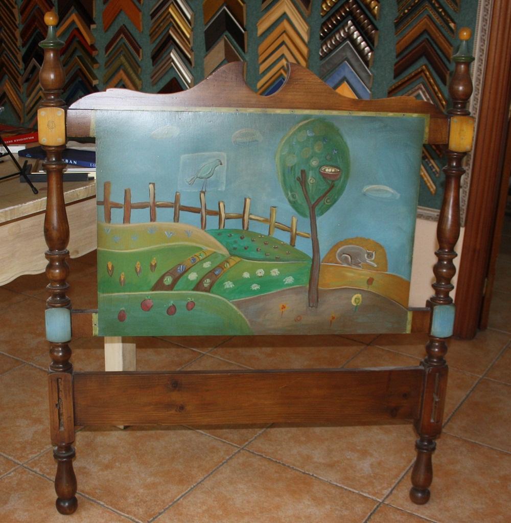 En venta menia restauraci n patrimonio - Cabeceros pintados a mano ...