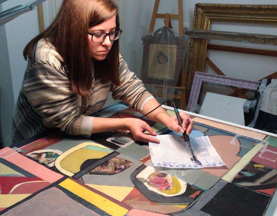 Planchado lienzo contemporáneo